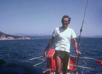 Massimo Crespi sailing on his boat