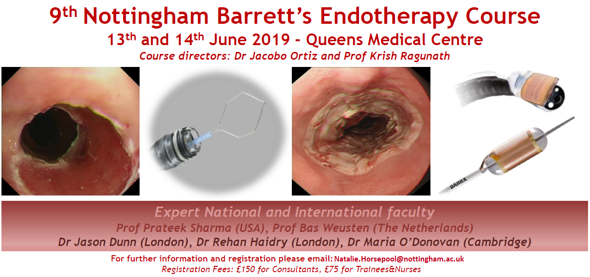 The 9th Nottingham Barrett's Endotherapy Course