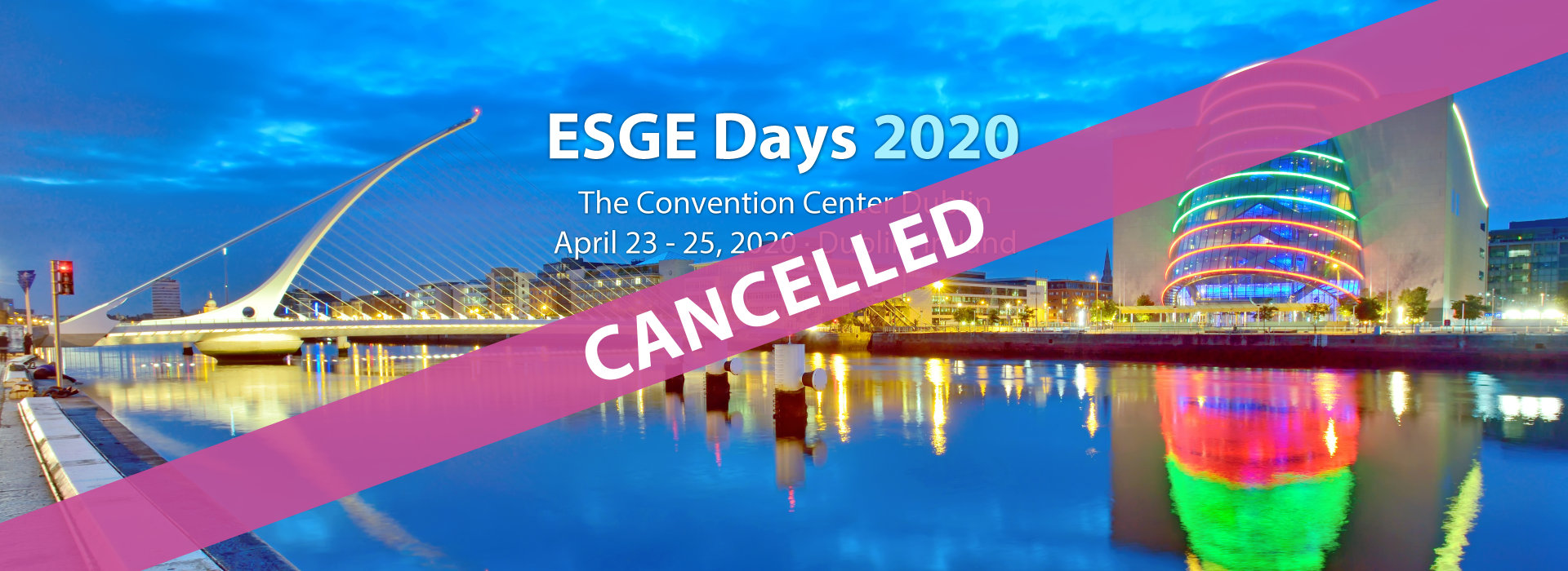 ESGE Days 2020 - cancelled